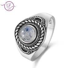 Новые продукты кольцо из натурального лунного камня для мужчин