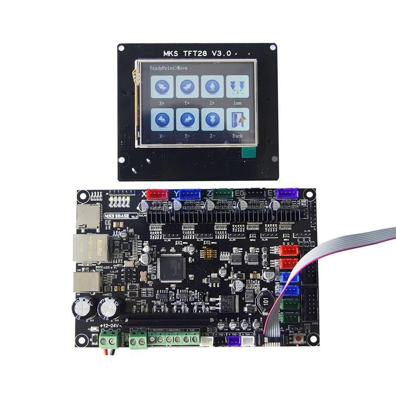 Imprimante 3D 32bit MKS SBASE V1.3 carte de contrôle + MKS TFT28 LCD écran tactile