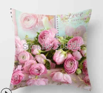 ZENGIA Euro Style Home Decor Capa de Almofada Flor Rosa Jogar Travesseiro para sofá fronha estilo Mediterrâneo para o Dia Das Mães
