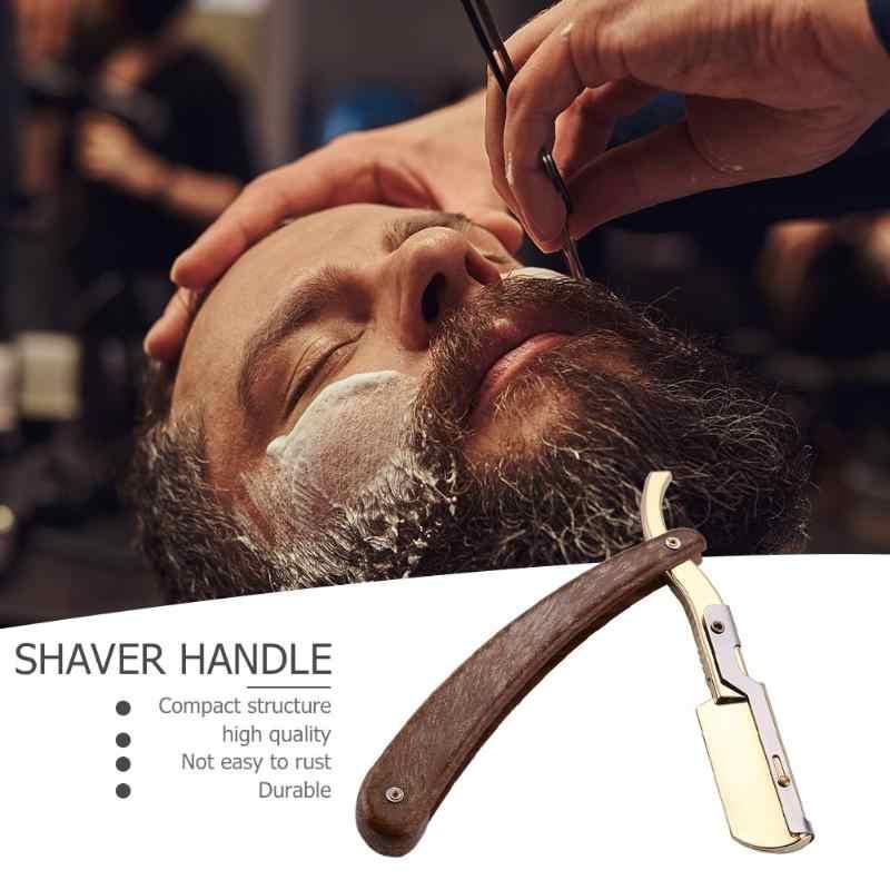 Handvat Kapper Hair Cut Scheermessen Scheren Massief Houten Razos Professionele Salon Kapper Haar Messen Veranderlijk Blade Soort Scheren Mes