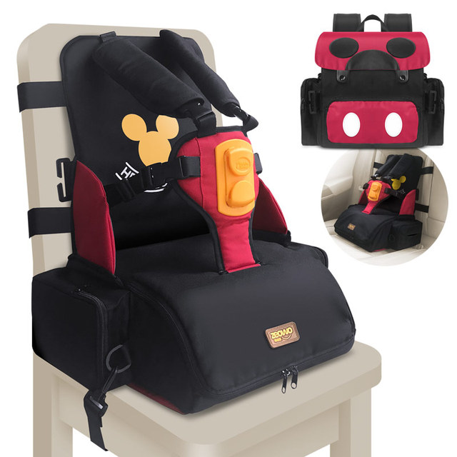 3 in 1 waterproof Child Seat Storage box with harness buckle Diaper Mommy Bag Portable Baby Feeding Booster toddler High Chair