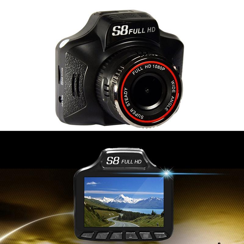 2In1 1080 P enregistreur de conduite de voiture détecteur de Radar compteur de vitesse Mobile avec Vision nocturne HD Len/g-sensor/Navigation/enregistrement sonore