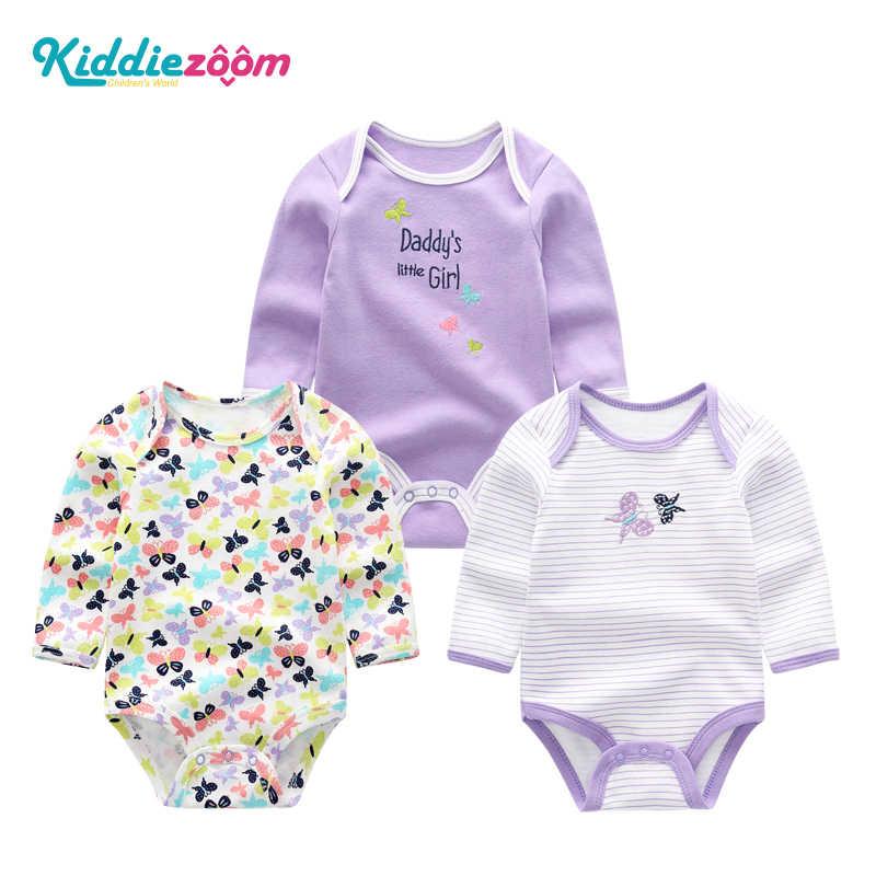 Meisjes Kleding Pasgeboren Eenhoorn Baby Boy Kleding Bodysuit Katoenen Baby Meisje Kleding 0-12 m Meisjes Baby Sets Babykleding jumpsuits 3 stks