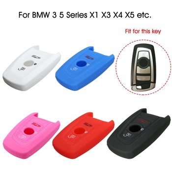 Silicone 4 Buttons Remote Key Case Cover Keys Fob Shell Protector For BMW X1 X3 X4 X5 X6 F30/F31/F34 F10/F11/F07 image