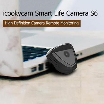 S6 Mini WiFi IP Camera Motion Sensor 1280x720P Night Vision Magnetic Clip Web Camera USB 2.0 300mAh Camera Support 64G TF Card 3