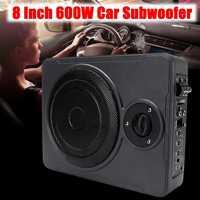 8 дюймов 600 Вт автомобильный сабвуфер усилитель тонкий басовый динамик Sub усилитель автомобиля сабвуферы Ampfilier сабвуфер автомобильный динам