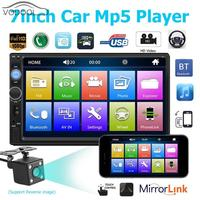 7 Inch 7010b Bluetooth Car Stereo MP3 MP4 MP5 Player FM Radio Multimedia USB Car Intelligent System With 1080P Reverse Image