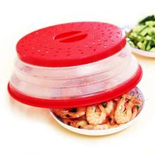 Microwave Cover Plastic Fruit Vegetables Colander Strainer Washing Basket Folding Plate Lids Kitchen Tools Gadgets