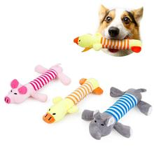 Pet Dog Cat Funny Fleece Durability Plush Dog Toys Squeak Chew Sound Toy Fit For All Pets Elephant Duck Pig Plush Toys