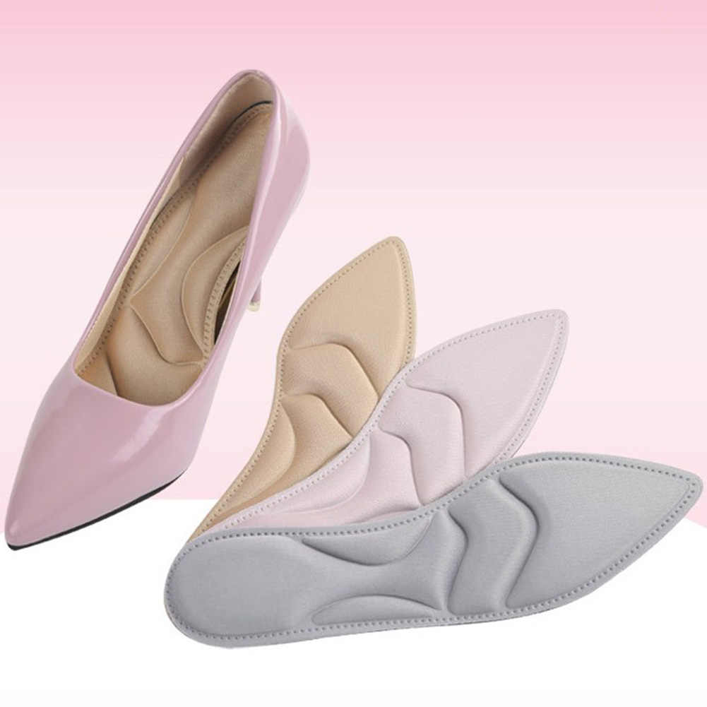 4D Sponge Soft Insole Arch Support High Heels Shoes Pad Comfort Cushion Inserts Ladies Sandals Black Gray Insoles Pink