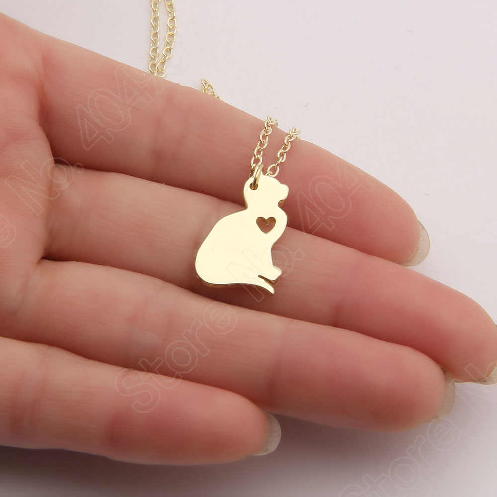 Cat Necklace Kitty Silver Jewelry Christmas Gifts Kitten Pet Lover Cute Choker Women Necklaces & Pendants Christmas Gift