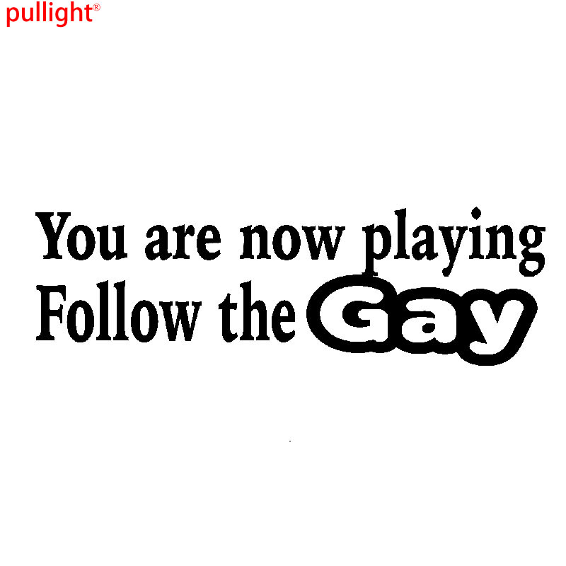 YOU/'RE NOW PLAYING GAY  BUMPER STICKER FUNNY CAR PAINTWORK STICKER  DECAL