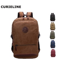 2019 new design large capacity laptop vintage canvas backpack wholesale black