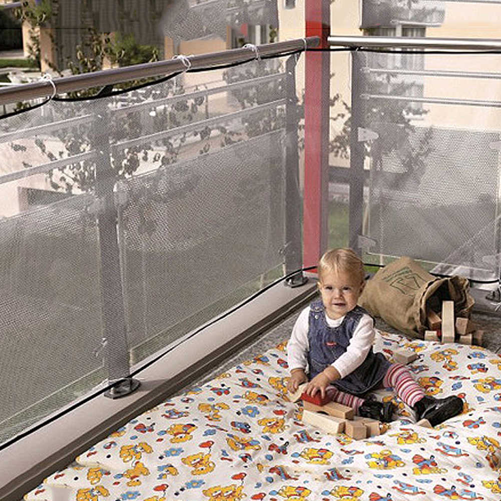 Large Size Safety Net Stairs Netting Protection Baby Stair Balcony Mesh Deck Gate Doorways Mesh Baby Fence Stair Net 300*74 cm