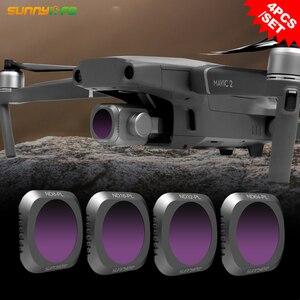 Image 2 - Sunnylife 4 teile/satz DJI MAVIC 2 PRO Drone ND8 PL ND16 PL ND32 PL ND64 PL Objektiv Filter
