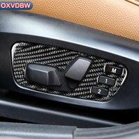 Car Interior Refit Carbon Fiber Sticker decorated Seat adjustment frame panel For bmw E84 X1 xDrive 35i 28i 25i 20i Accessories