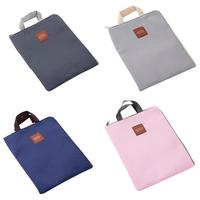 Cute File Package Laptop Zipper Multifunction File Bag Portable Document Canvas Briefcase For Student
