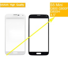цена на 10Pcs/lot For Samsung Galaxy S5 mini G800F G800H G800 Touch Screen Front Glass Panel TouchScreen Outer Glass Lens NO LCD