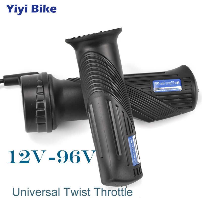 دراجة كهربائية تويست خنق ، e الدراجة العالمي خنق 24 فولت-96 فولت الغاز مقبض للدراجات النارية e-سكوتر سرعة مسرع 145 سنتيمتر