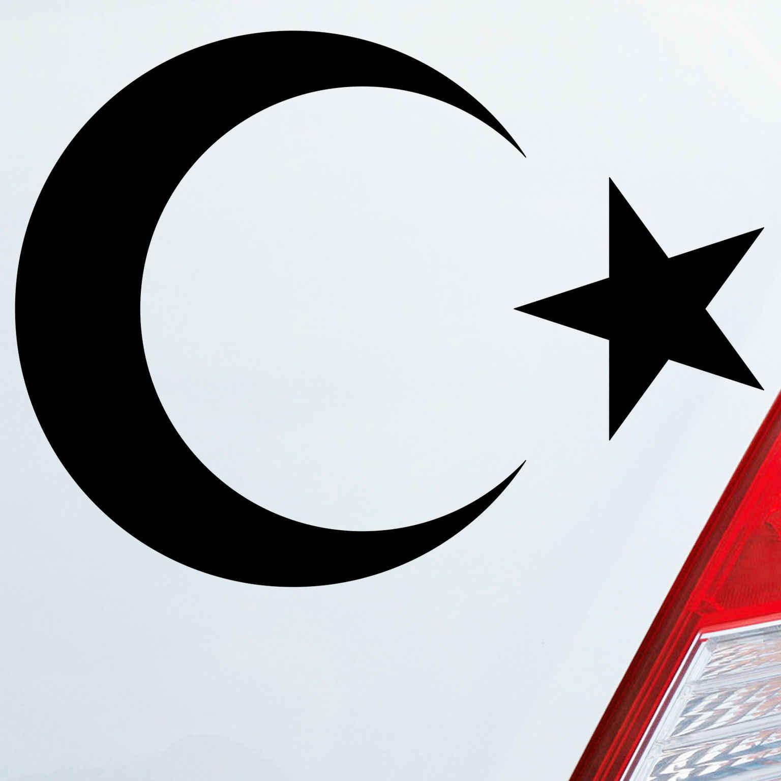 14*10 Cm Islam Turki Bendera Bintang Sticker Setengah Fashion Kepribadian Kreativitas Mobil Stiker Vinyl Stiker Mobil Styling