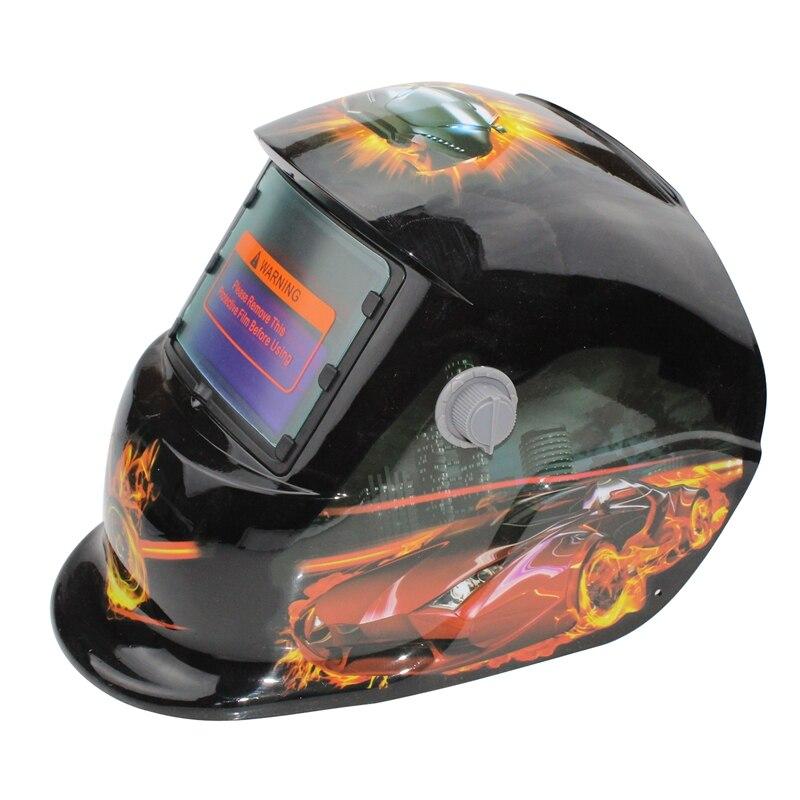 Hlzs-2018 Neue Pro Solar Schweißer Maske Auto-verdunkelung Schweiß Helm Muster Racing