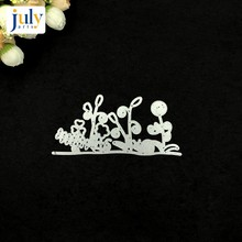 Julyarts Grass Silver Cutting Dies Steel Metal Stencil For Scrapbooking Handmaeking Gift Album Embossing  Card Templates Model