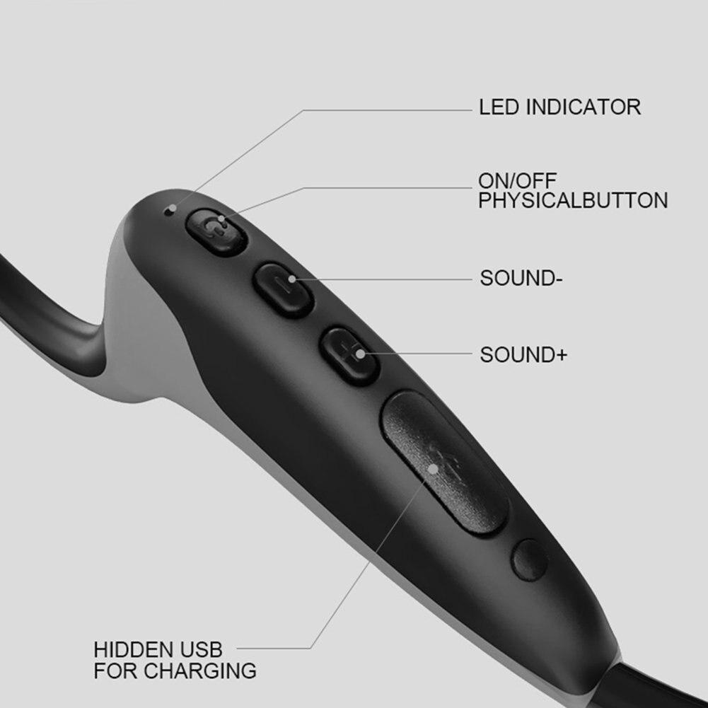 Tenquinze Z8 casque de conduction osseuse Bluetooth appel de musique casque de sport conduction osseuse après suspension casque de sport - 3