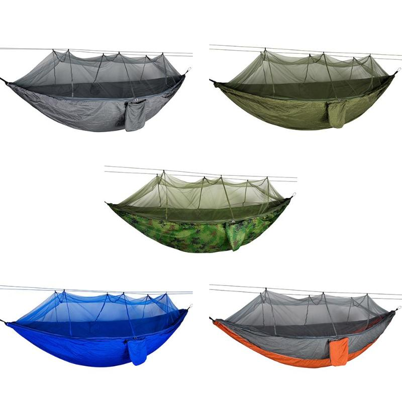 Outdoor Mosquito Net Parachute Hammock Camping Hanging Sleeping Swing Bed Hanging Swing Sleeping Bed Tree Tent image