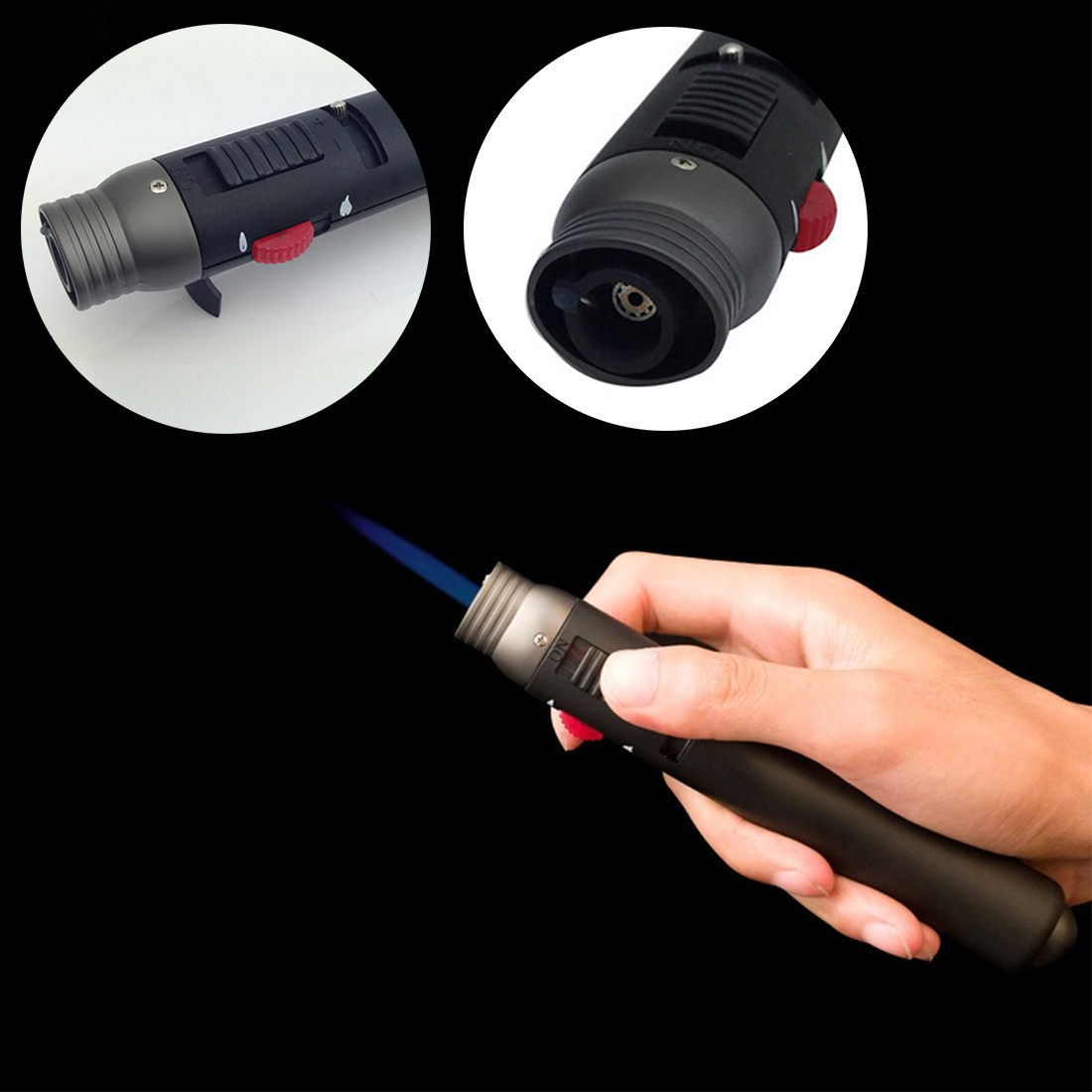 Welding Soldering Pen Outdoor Lighter 1300 Degree Torch Jet Flame Pencil Butane Gas Refillable Fuel