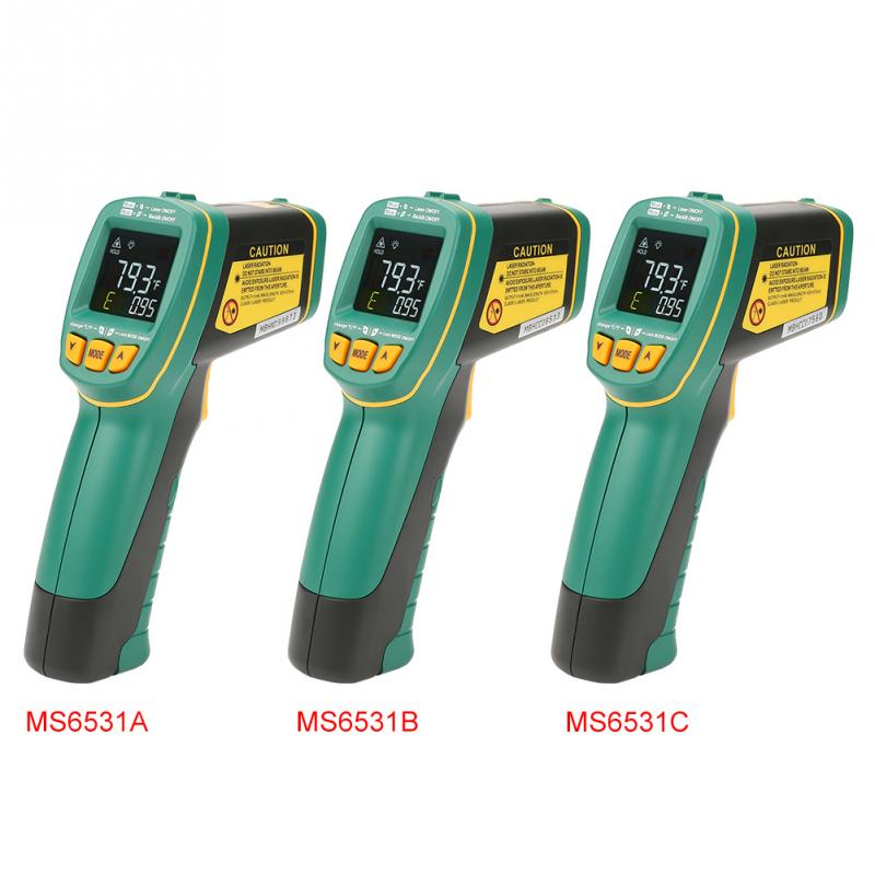 MASTECH MS6531A MS6531B MS6531C Handheld Color Screen Infrared Thermometer