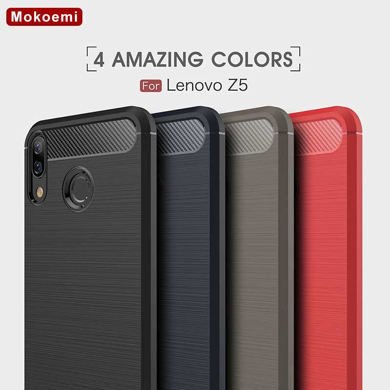 "Mokoemi Fashion Shock Proof Soft Silicone 6.2""For Lenovo Z5 Case For Lenovo Z5 cell Phone Case Cover"