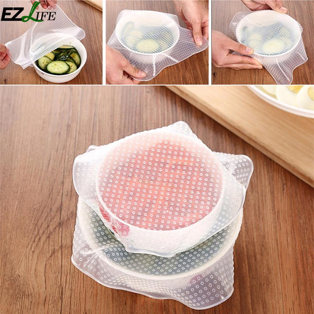 3 Sizes Reusable Square Silicone Cover Kitchen Utensils