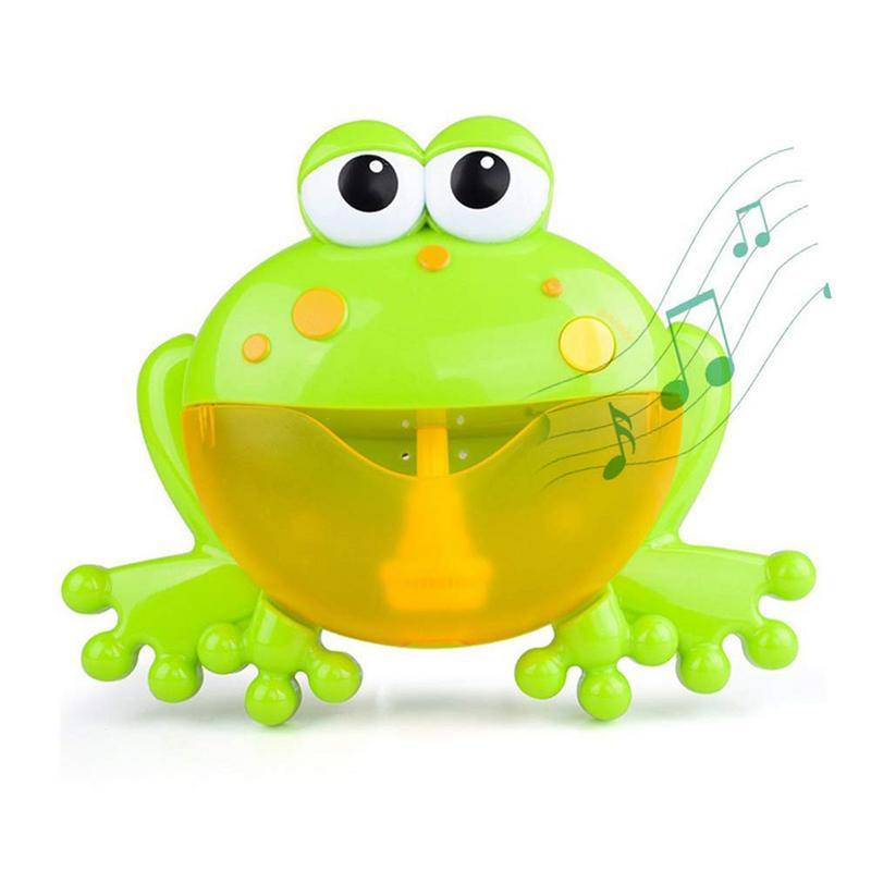Popular Cute Green Bubble Crab Music Foaming Machine Baby Children Bathroom Beach Play Water Bathing Hanging Toys