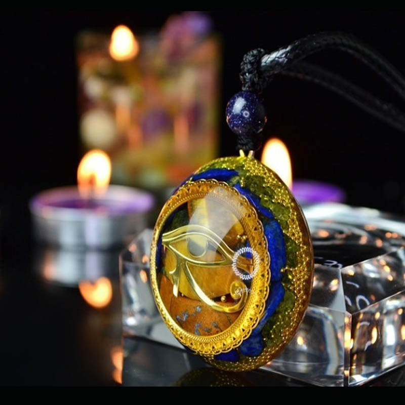 Orgonite Energy Pendant Orgone Crystal Necklace Men And Women Career Amulet Magnetic Field Energy Converter witca