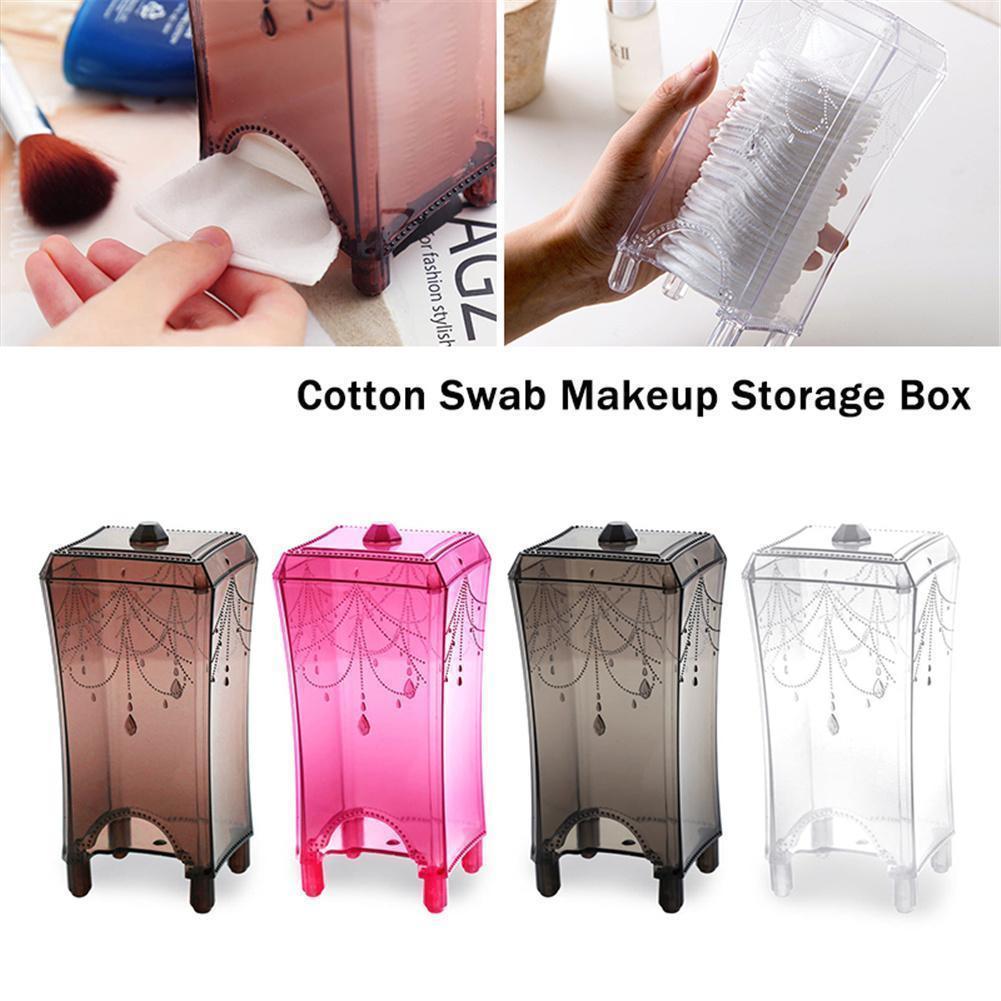 Makeup Cotton Pad Cosmetic Organizer Case Swab Storage Box Holder Tampon Tools