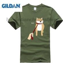 GILDAN T-Shirt Summer Style Men T Shirt Cute Shiba Inu Nope - Doge Meme T-shirt B