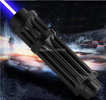 Super Powerful! Military blue laser pointer 500000m 500w 450nm Flashlight Light burning match/dry wood/candle/black & Cigarettes