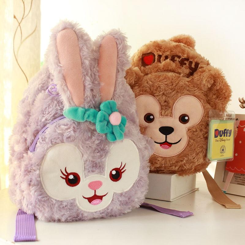 GZTZMY Duffy Bear New Friends Stellalou Rabbit Plush Backpack Soft Toys Kids Schoolbag Stuffed Doll Plush Animal Bag Girls Gifts