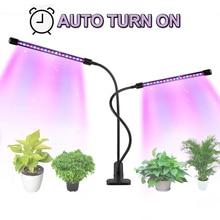 Led Grow Light 27W Full Spectrum Timer Phyto Lamp For Plants Light 5 Dimmable Clip-On Desk For Indoor Plant Succulents Seedlings