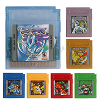 Cartridge-Console-Card Game 16-Bit Classic English-Language Colorful-Version Pokemonseries