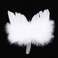Шикарный Ангел белый крылья из перьев висячий орнамент Свадебный декор фотографии реквизит