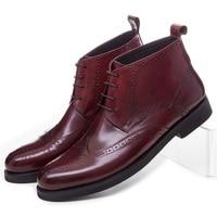 Большой Размеры Eur45 Мода черный/коричневый загар оксфорды мужские ботильоны ботинки из натуральной кожи мужские Туфли под платье