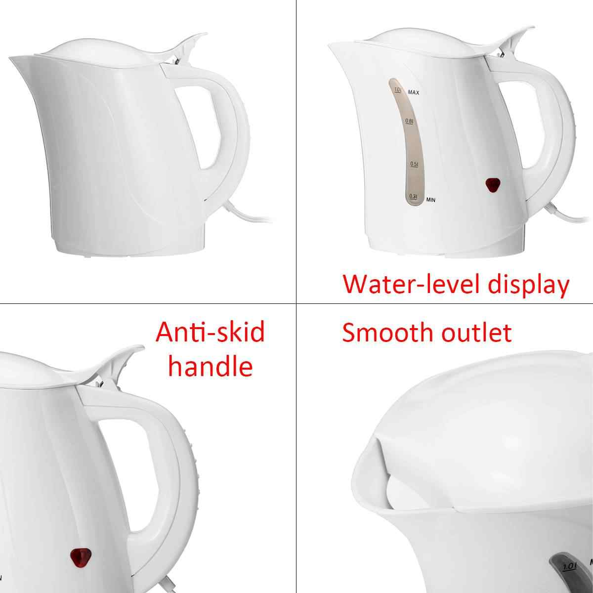 1000ML 12V Car Hot Kettle Portable Water Heater Travel Auto For Tea Coffee Stainless Steel Large Capacity Vehicle Boat Caravan