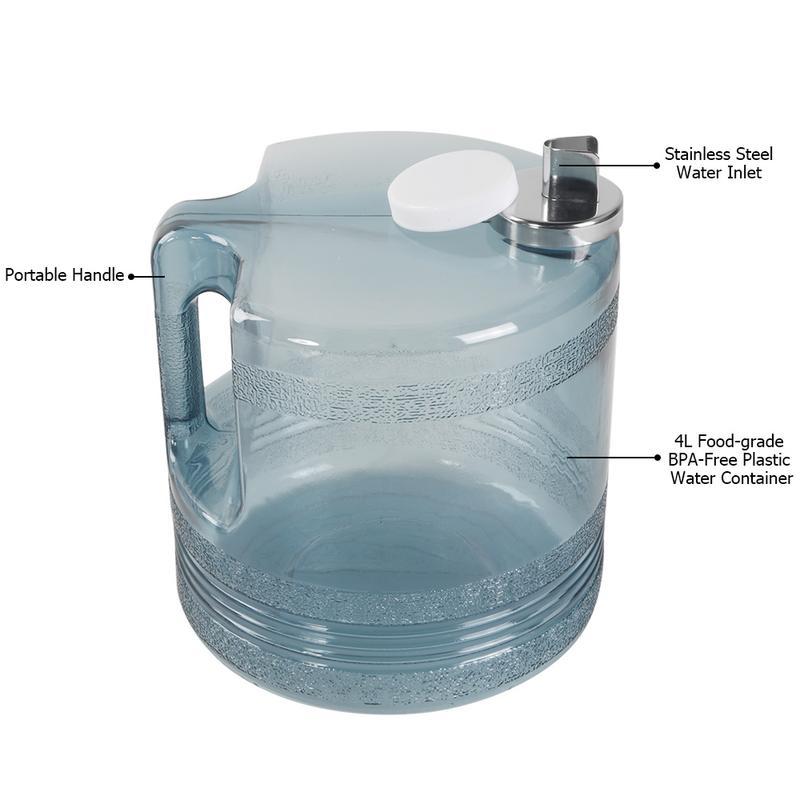 4L 110 V 750 W Aanrecht Water Distilleerder Machine Volledig Opgewaardeerd Roestvrij Staal Thuis Pure Waterzuiveraar Filter Rvs - 3