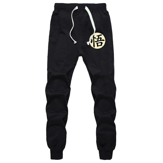 Casual Funny Print Dragon Ball Goku Mens Pants Cotton Autumn Winter Gray Men Joggers Sweatpants Plus Size Black Trouser pantalon