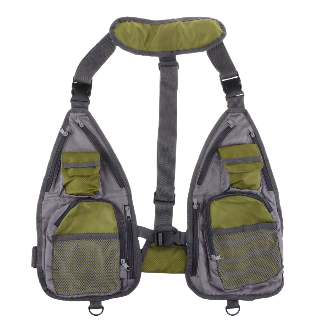 Reliable Fly Fishing Vest Jacket Chest Mesh Bag Waistcoat Sports Camping Hunting Vest