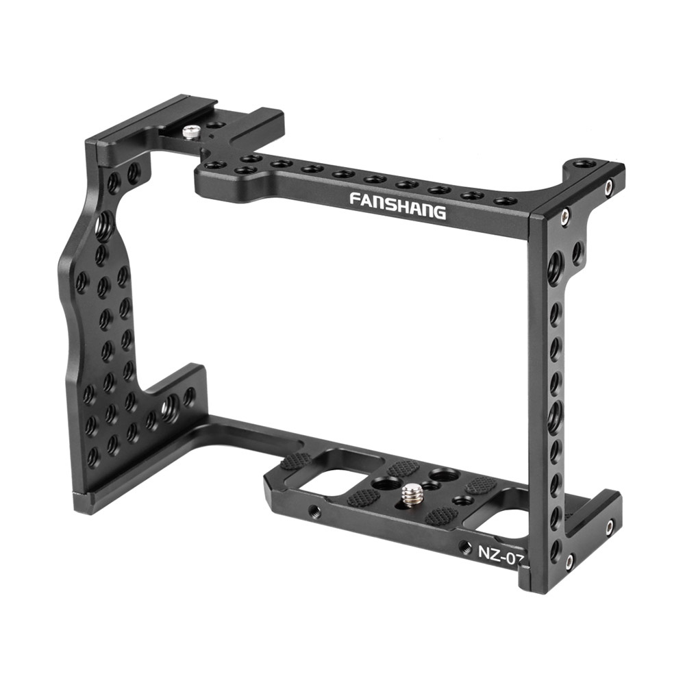 Aluminum Alloy Camera Video Cage Mount Rig Film Making Stabilizer Bracket with Cold Shoe Mount 1