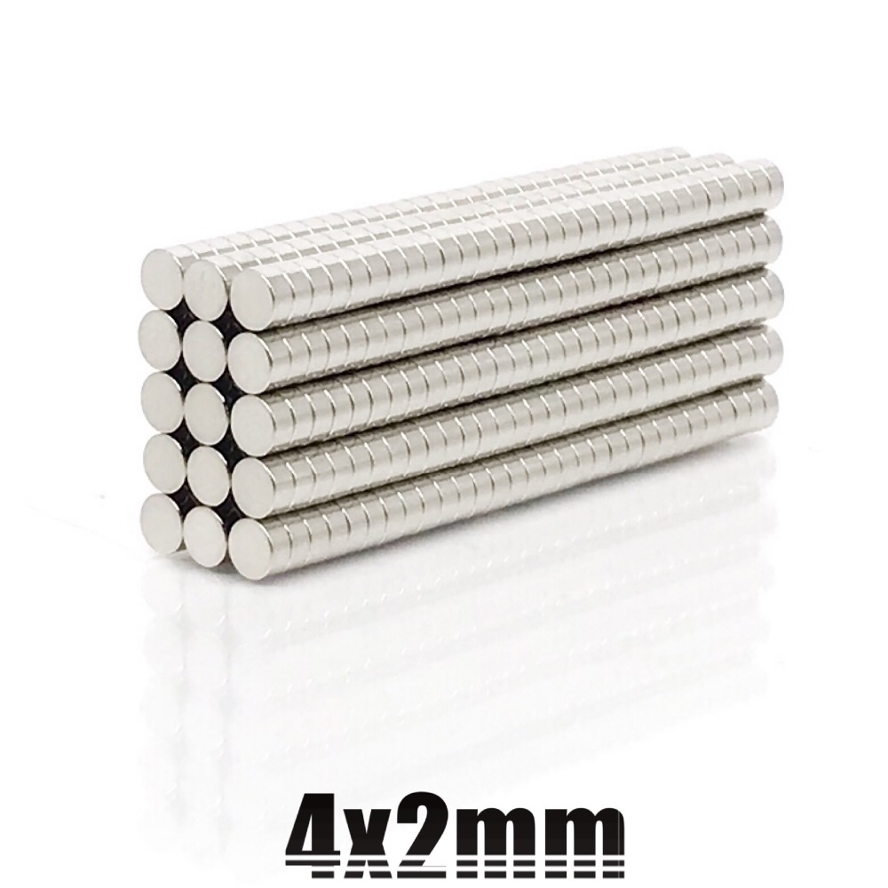 20/50/100/200pcs 4x2mm Strong disc Magnets Dia 4mm x 2mm N35 Neodymium Magnet Rare Earth Magnet 4*2mm free shipping-in Magnetic Materials from Home Improvement on AliExpress