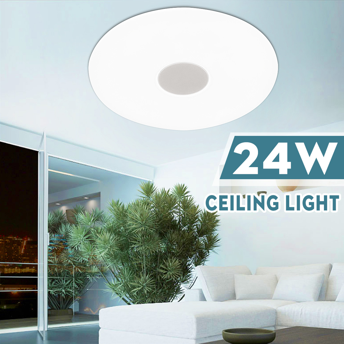 24w Bright Ultra Thin Led Ceiling Light Fixture Modern Lamp Living Room Lighting Surface Mounted Panel For Home Decorate
