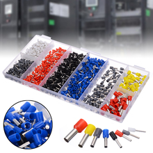 1200pcs/kit Insulated Ferrule Cable Lugs Assortment 0.5-10mm2 Wire End Ferrules